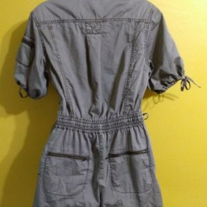 French Connection Shorts - Military style shorts romper zipper lace up 10